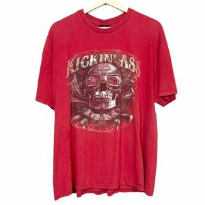 Harley Davidson Kickin Ass Texas Graphic Tshirt